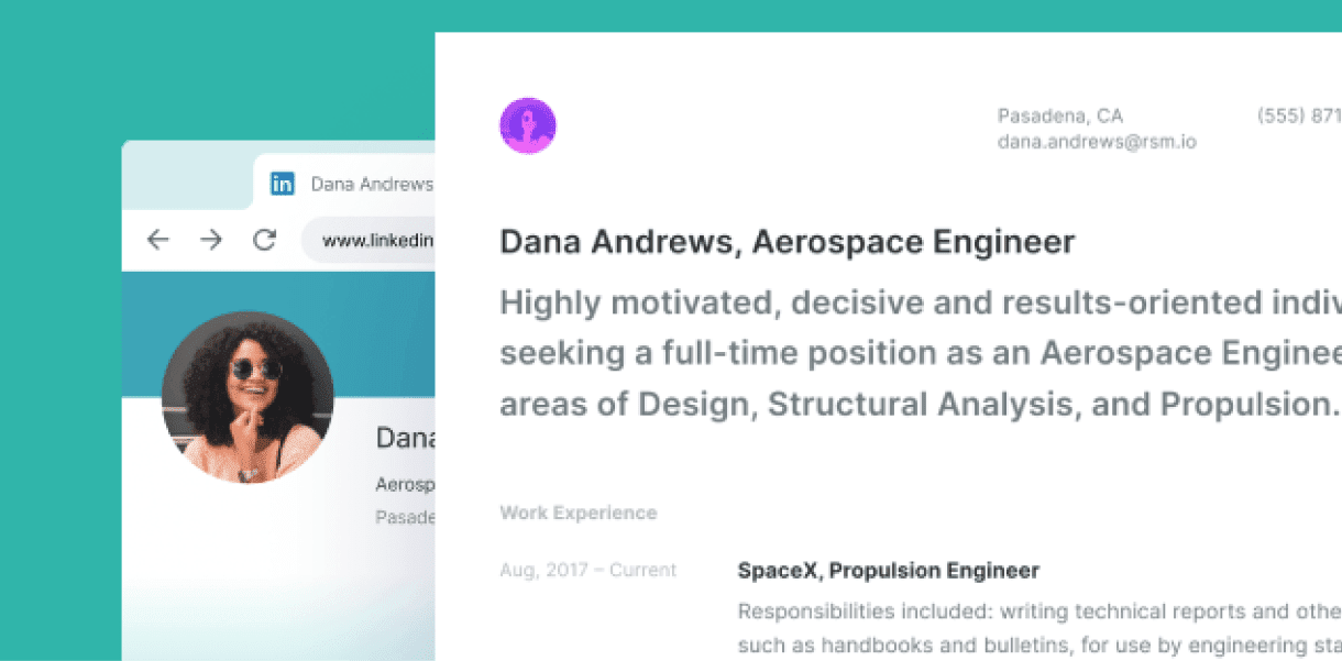 Building a modern resume from LinkedIn