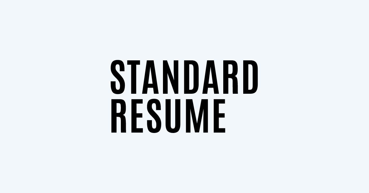 Junior Web Developer resume template sample made with Standard Resume