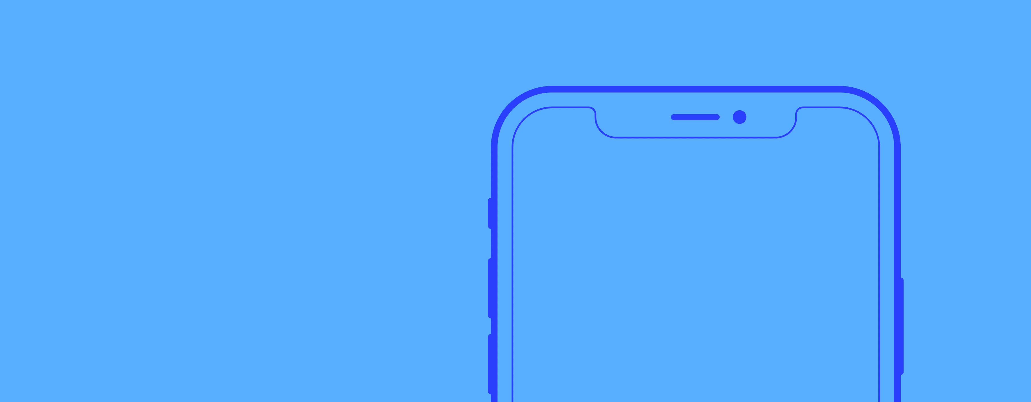 iPhone wireframe drawing