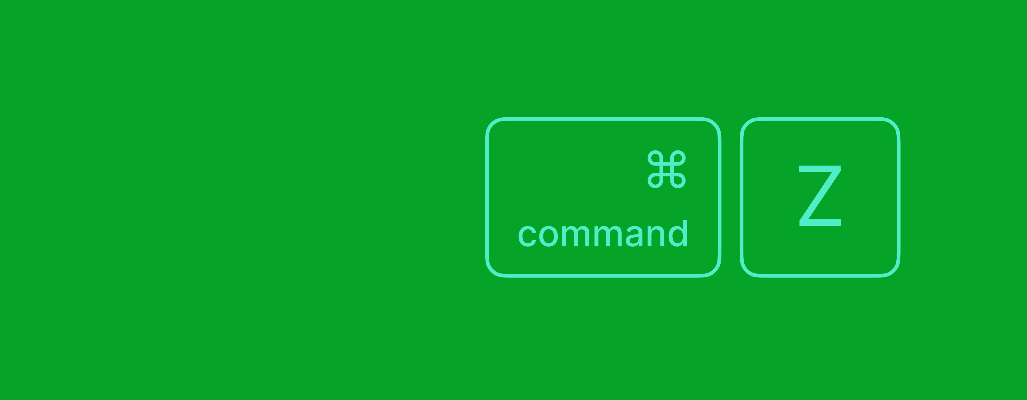 Command + Z keyboard diagram