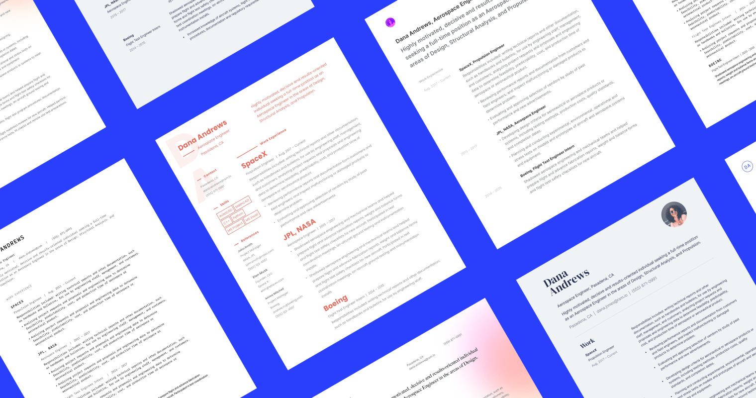 Graphic design resume templates grid